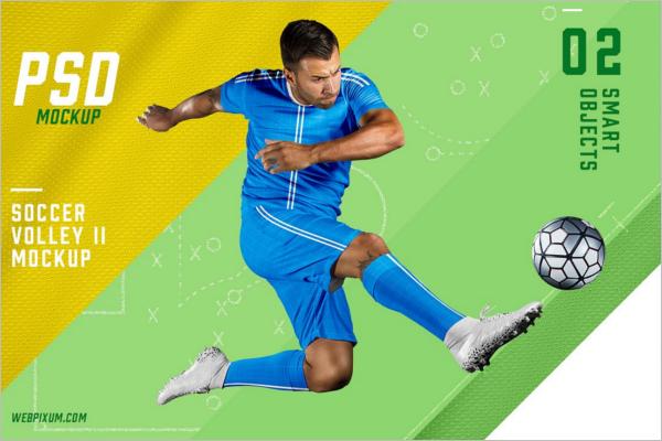 Soccer Kit Mockup PSD Template