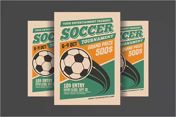Soccer Tournament Flyer PSD Template