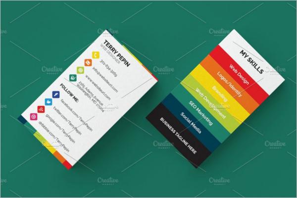 Social Media Business Card Template