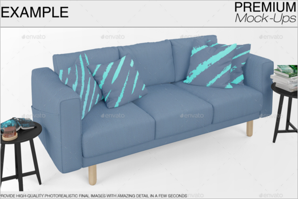 Sofa Pillow Mockup Template