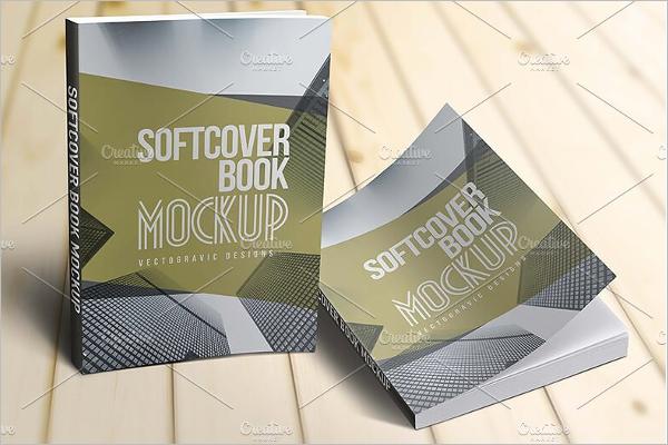 Soft Cover Book Mockup Design