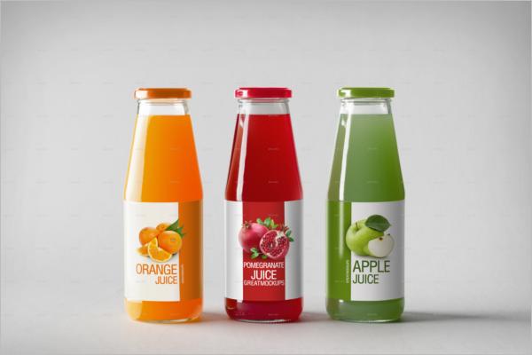 SoftJuice Bottle Mockup Template
