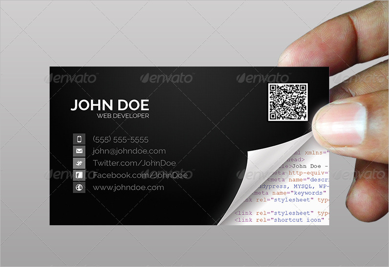 Software Developer Business Card Design