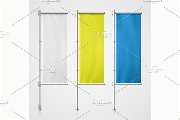 Spangled Flag Banner Design