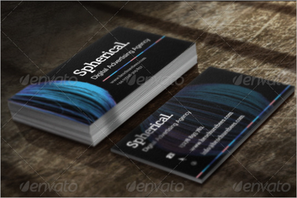Spherical Business Card Template
