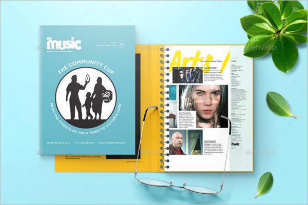 Spiral Book Cover Mockup Design