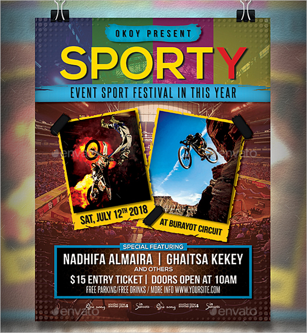 sports event club flyer template
