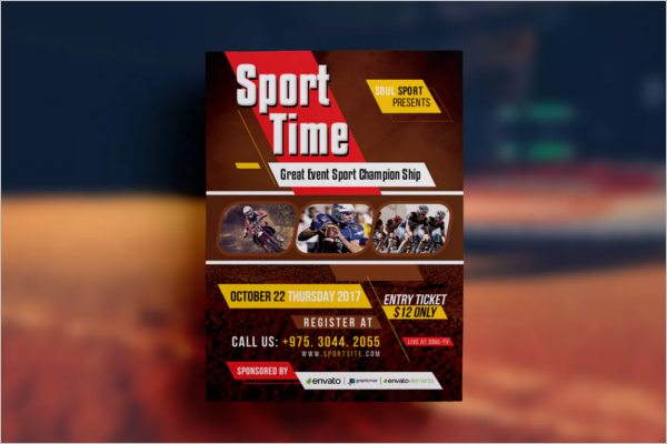 Sports Event Flyer Design Template