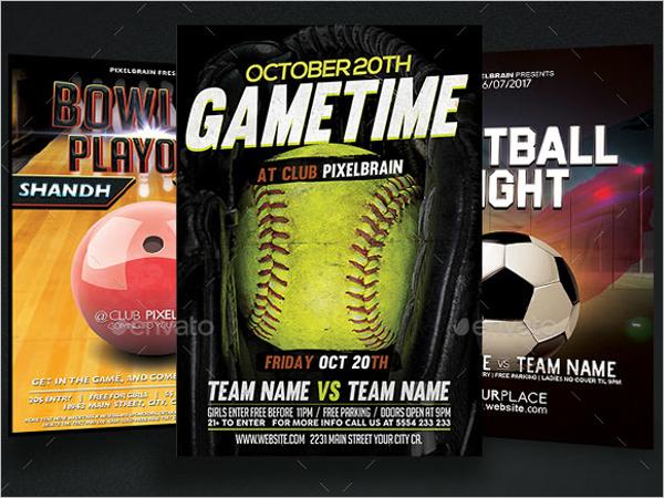 Sports Event Flyer Design