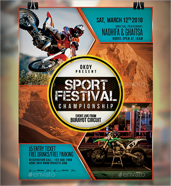 Sports Event Flyer Poster Template