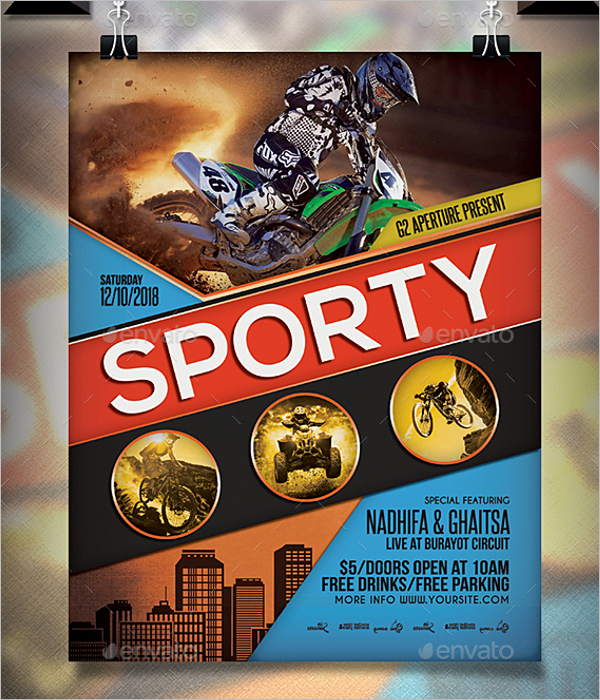 Sports Event Flyer Template 2018
