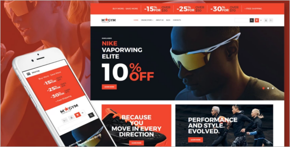 Sports Store VirtueMart Template
