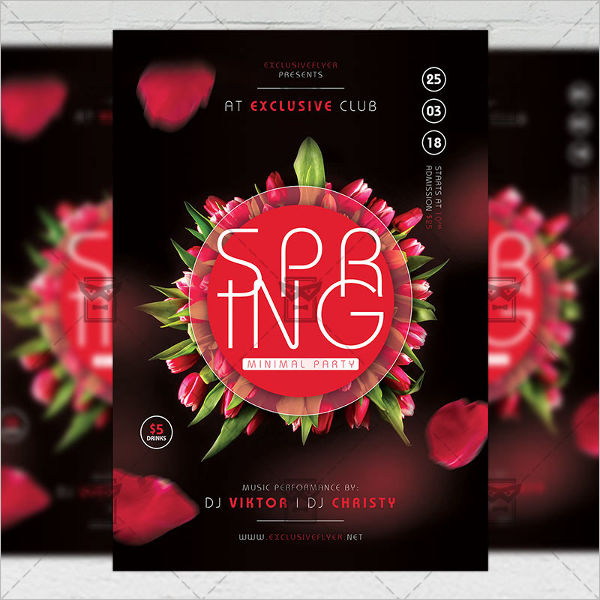 Spring A5 Flyer Template