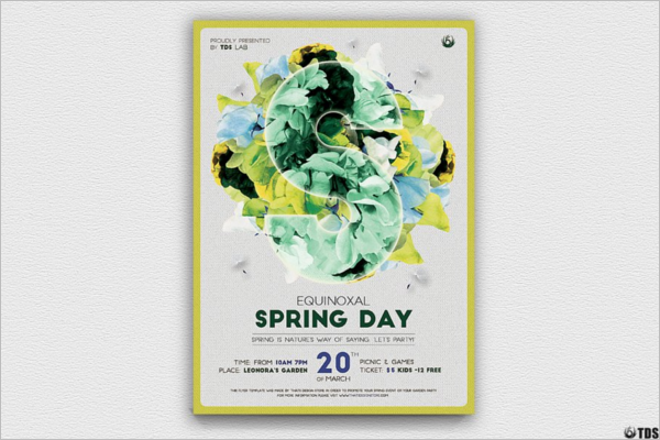 Spring Day Flyer PSD Template
