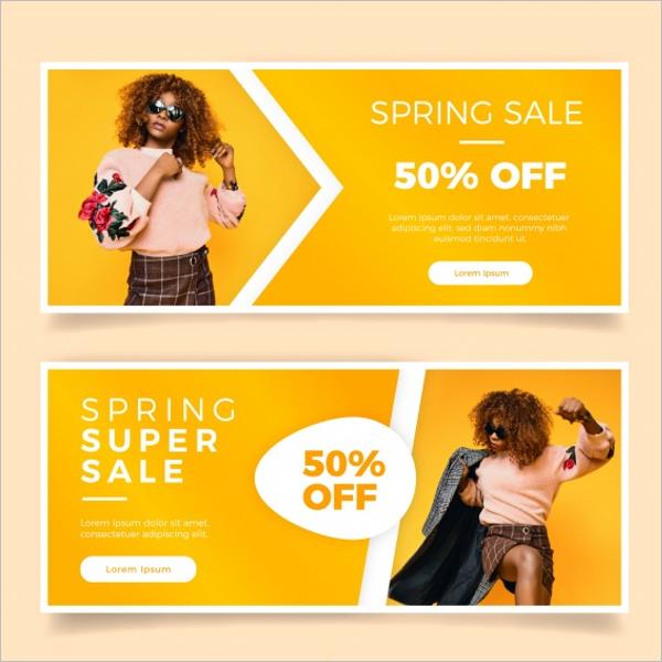 Spring Sale Banner Design
