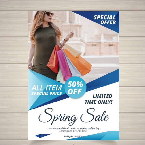 Spring Sale Flyer Free Vector