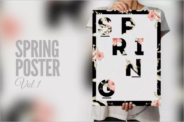 Spring Season Poster Template
