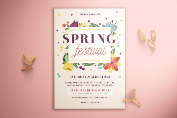 Spring Seasonal Event Flyer Template