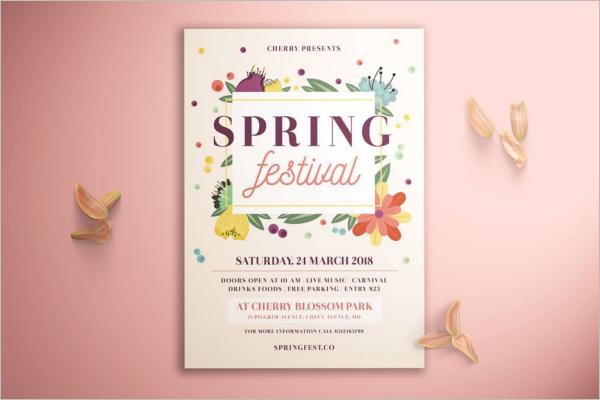 Spring Seasonal Event Flyer Template