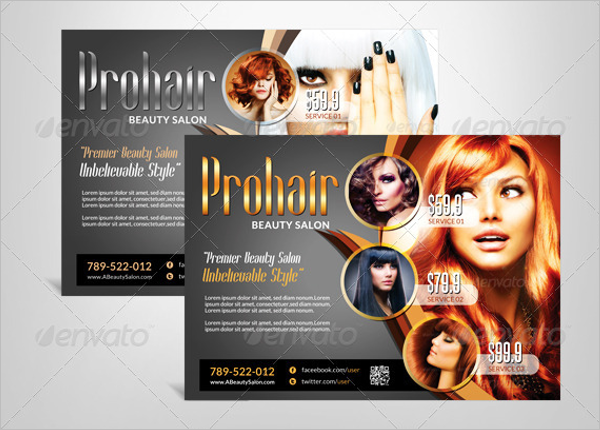 Square Beauty Salon Flyer Template