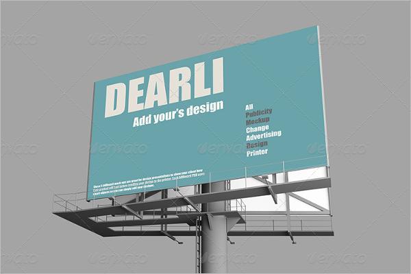 Square Billboard Mockup Design