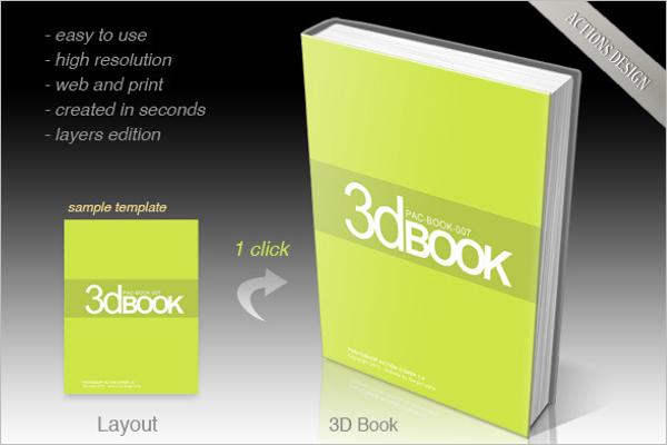 Square Book Cover Mockup Design