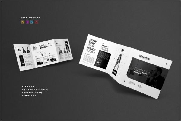 Square Brochure Retro Design
