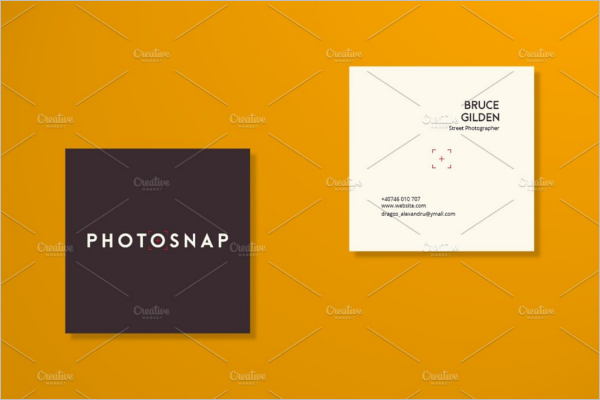 Square Business Card Customisation Design