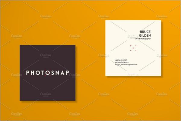 Square Business Card Customisation Design