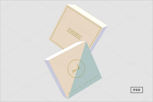 Square Business Card Layout Design