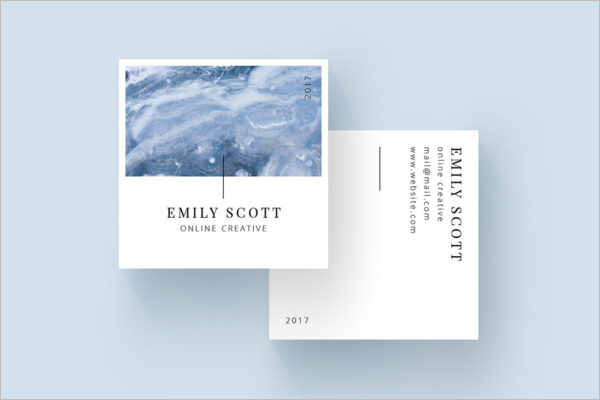 Square Business Card Template PSD