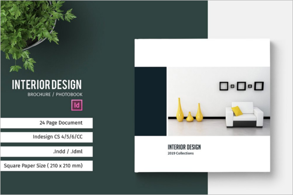 Square Interior Brochure Design