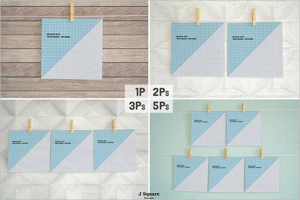 Square Paper Mockup Design