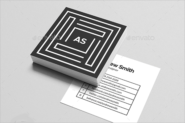 Square personal business card template square personal business card template accmission Choice Image