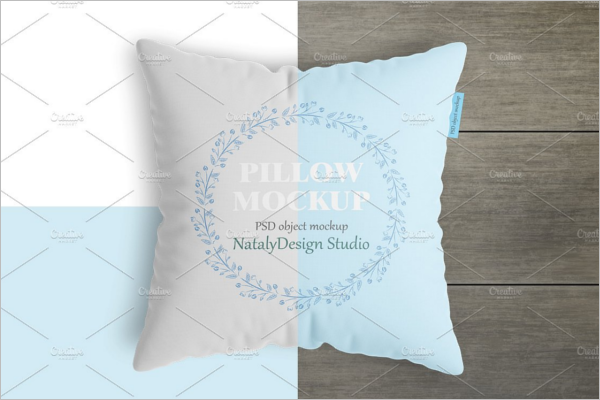 Square Pillow Mockup Elegant Design