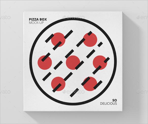 Square Pizza Box Mockup