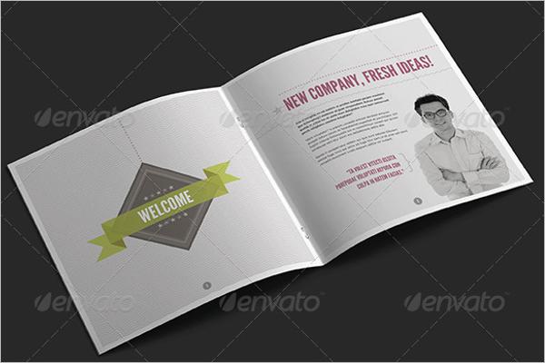 Square Retro Brochure Template