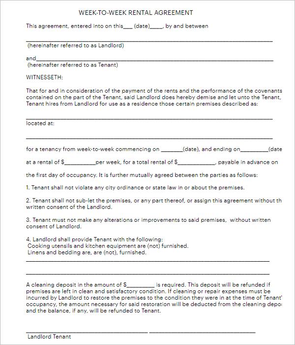 Standard Agreement Form Template