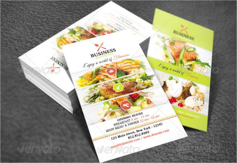 Standard Restaurant Business Card Template