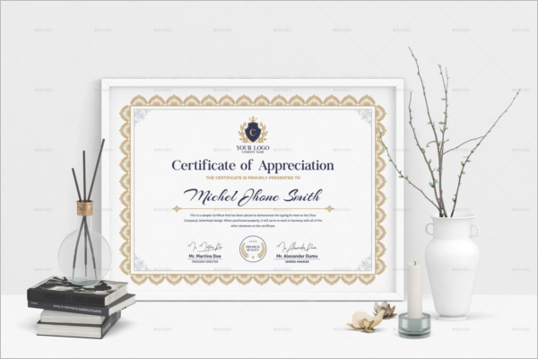 Standard Word Certificate Template