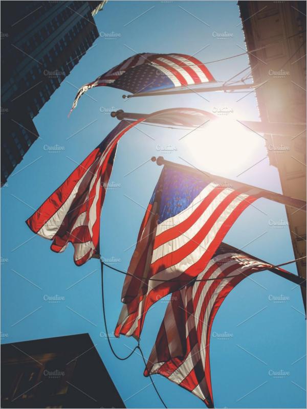 Star Flag Banner Template