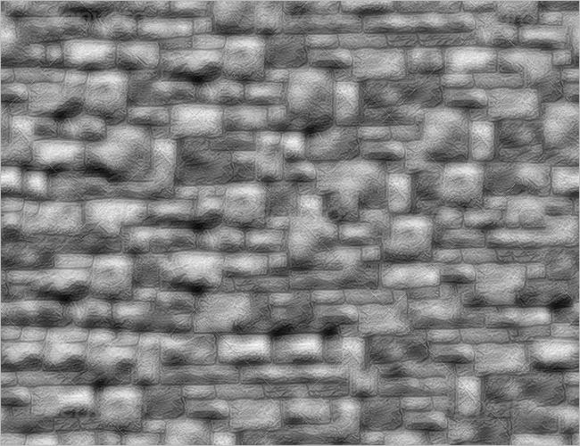 Stone Wall 3D Texture Design