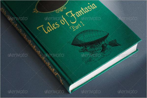 Story Book Cover Mockup Design