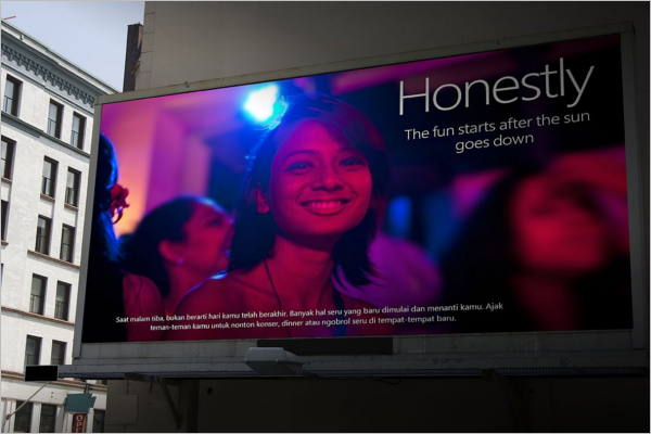 Street Billboard Mockup Design