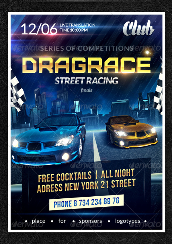 Street Racing Flyer Template