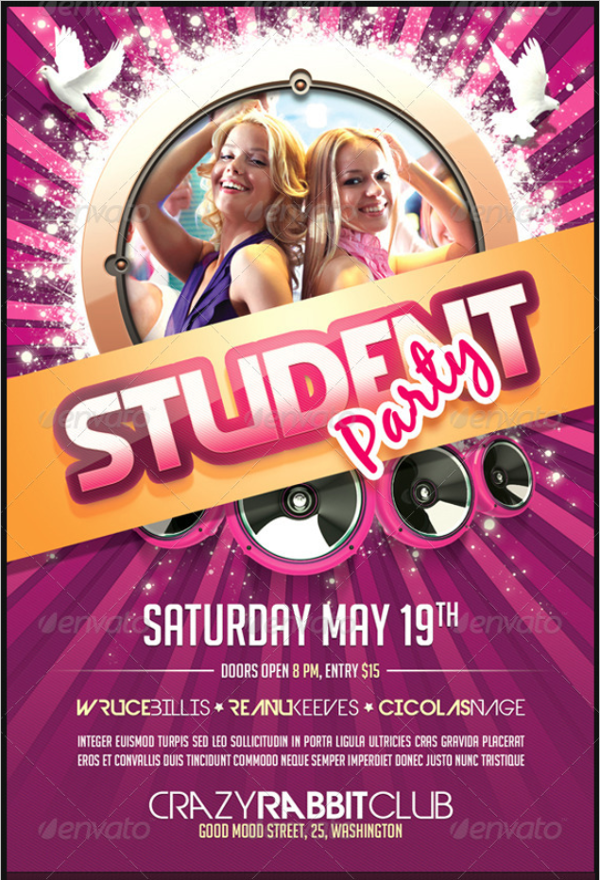Student Flyer Template