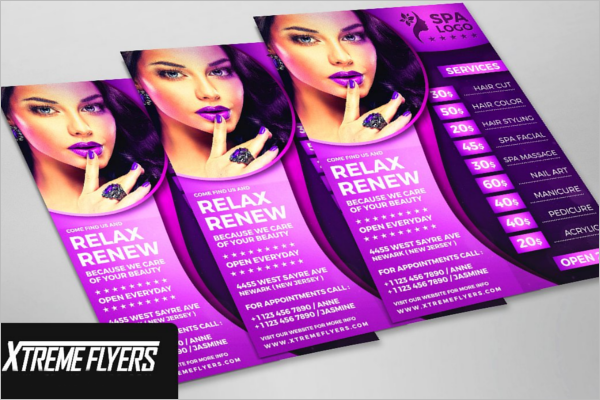 Stylish Beauty Salon Flyer Template