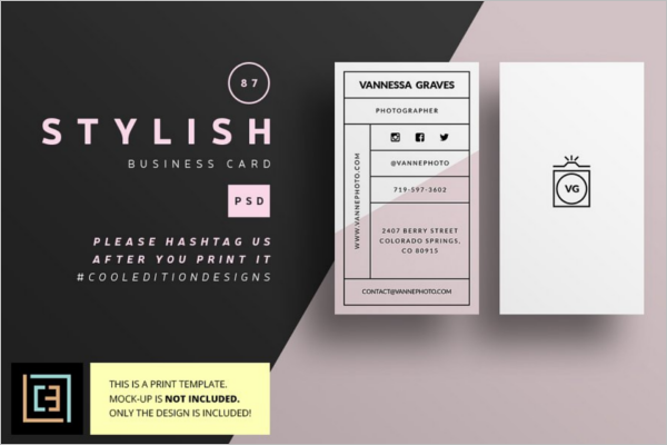 Stylish Business Card Photoshop Template
