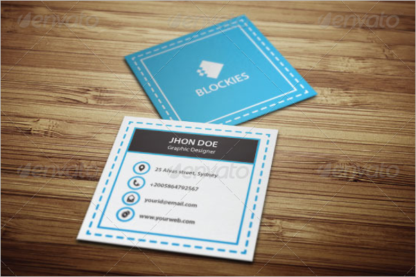 Sty;lish Square Business Card Template