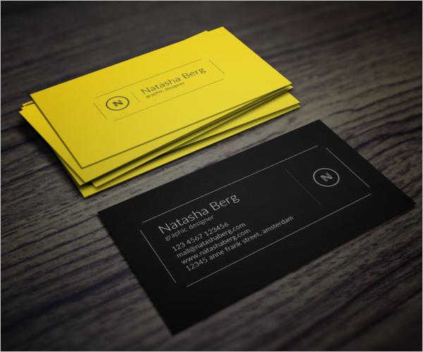 StylishYellow Business Card Design